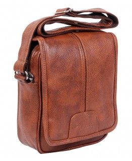 Easies syntheric Leather Tan Sling bag with Shoulder strap