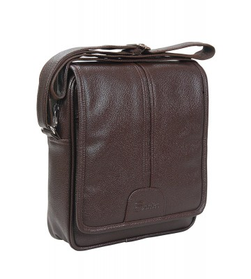 Easies syntheric Leather Brown Sling bag with Shoulder strap